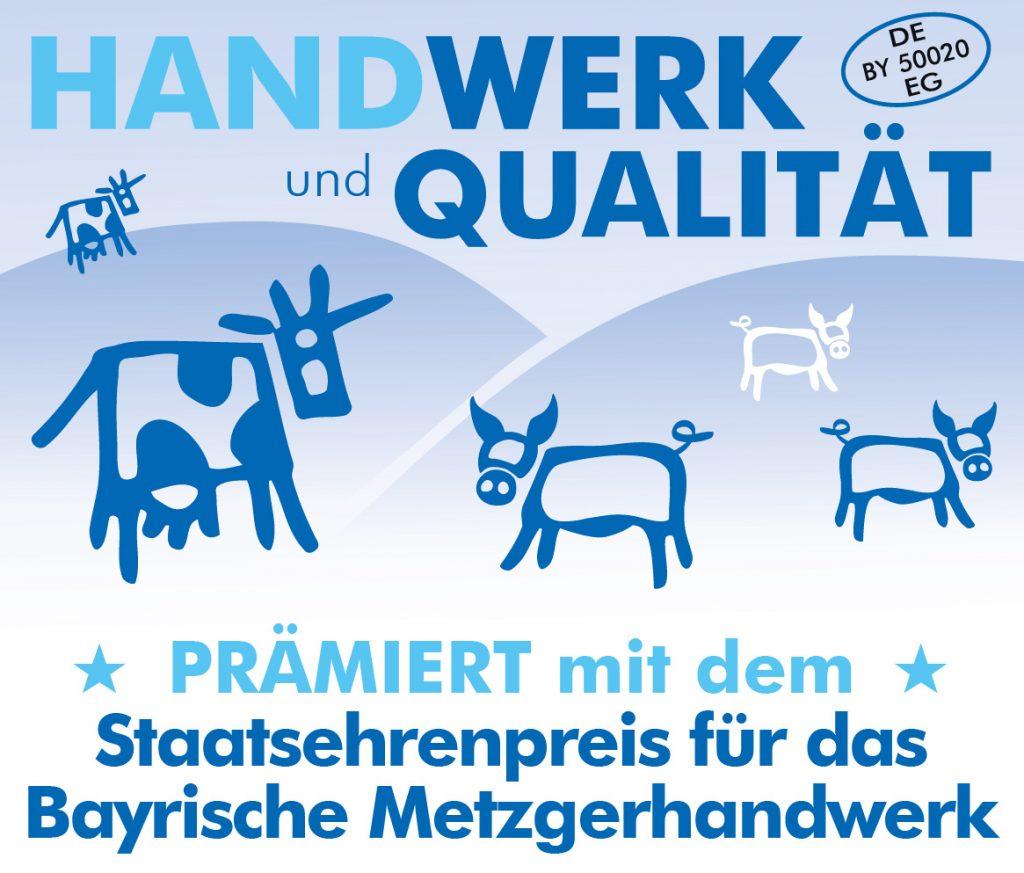 Max Gruber prämiert mit dem Staatsehrenpreis für das bayerische Metzgerhandwerk